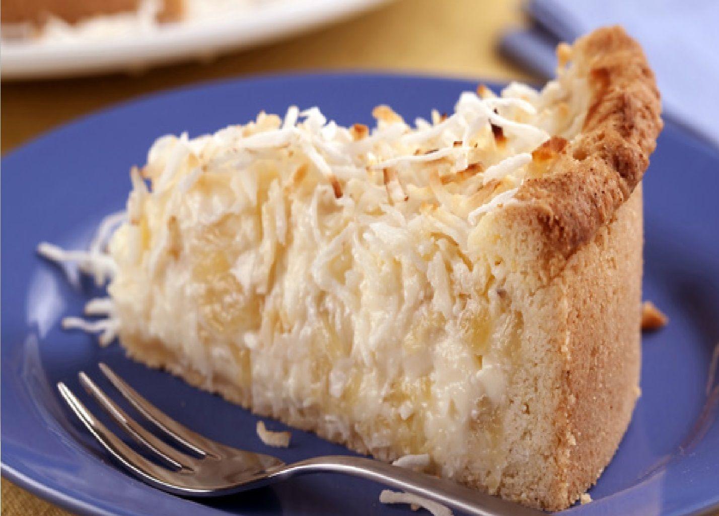 Torta de Abacaxi e Coco