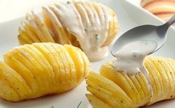 Batatas Laminadas com Requeijão Cremoso