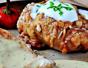 Batatas Recheadas com Queijo