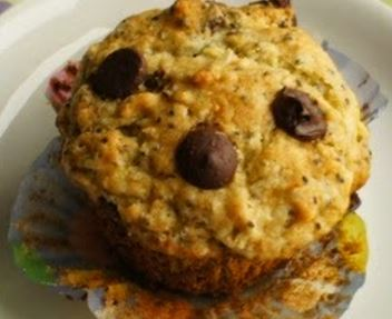Muffins de Chocolate, banana e Chia