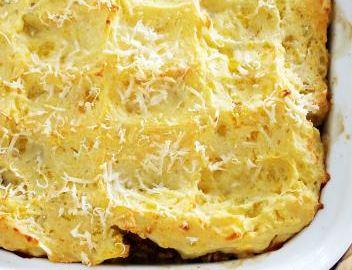 Torta de Batata e Mandioquinha com Carne