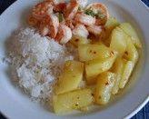 Camarões com batatas souté