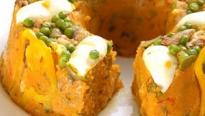 Cuscuz com Camarão e Ovos Cozidos