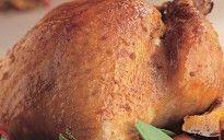 Peru assado com cobertura de melado e pimenta-caiena