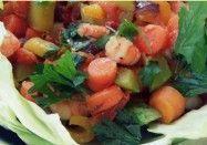 Salada Quente de Camarão