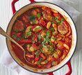 Almôndegas ao molho de feijão branco e tomate