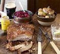 Carne de porco com molho barbecue