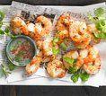 Camarão com sal e pimenta