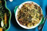Batata e anchova assadas