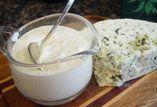 Molho de gorgonzola para salada