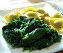 Espinafre refogado com manteiga e alho