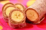 Moedas de banana e manteiga de amendoim