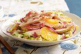 Salada de alface com frango e mel