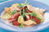 Salada de frango com curry e iogurte