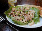 Salada de feijão branco e atum