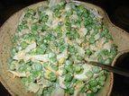 Salada de ervilhas com cheddar