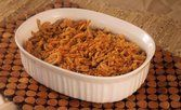Carne temperado com sopa de cebola