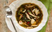 Sopa de legumes e bacalhau