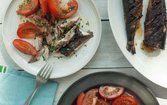 Cavala grelhada com tomate
