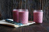 Bebida de cereja com iogurte