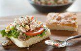 Salada de atum com alcachofra