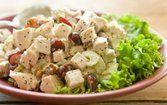 Salada de frango com nozes e aipo
