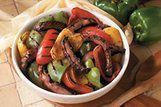 Salada tricolor com cogumelo