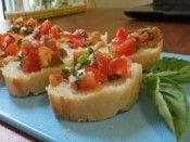 Bruschetta com tomates cerejas