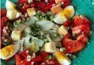 Salada de Bacalhau e Tomate