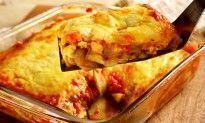 Lasanha com queijo e abobrinha