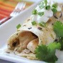 Enchilada de frango com cogumelos