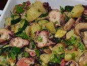 Salada quente de Polvo e Batatas Grelhadas