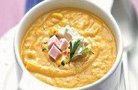 Sopa abóbora com queijo cottage