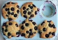 Muffins de blueberries com creme de leite