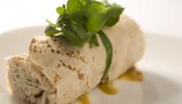 Wrap de Frango com Mostarda e Gorgonzola